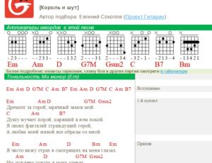 Аппликатуры аккордов в PDF